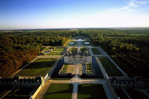 Château de Vaux Le Vicomte (vista aérea). Imagem: Y. Arthus-Bertrand