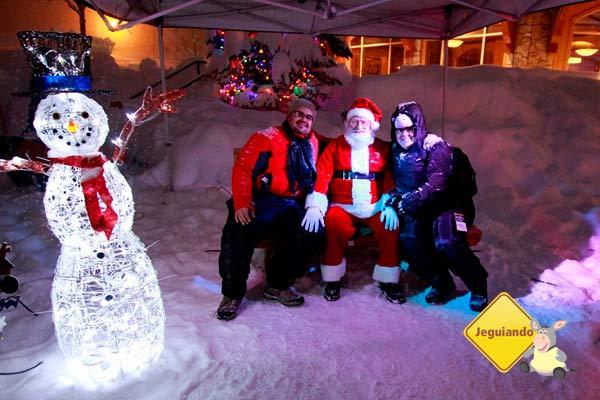 Papai-Noel chegou em Sun Peaks! British Columbia, Canadá. Imagem: Ari Paleta