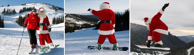 Que tal esquiar ou fazer snowboard ao lado do Papai Noel? Imagem: http://www.sunpeaksresort.com/events-and-festivals/event.aspx?c=1&e=1691