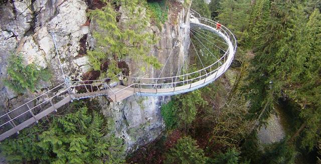 Imagem aérea da Cliff Walk. Imagem: Divulgação