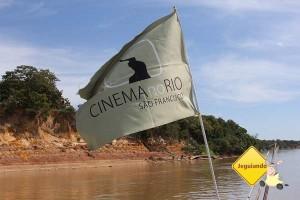 Jeguiando no Cinema no Rio. Imagem: Janaína Calaça