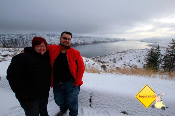 Erik e eu, na estrada, em British Columbia. Imagem: Ari Paleta