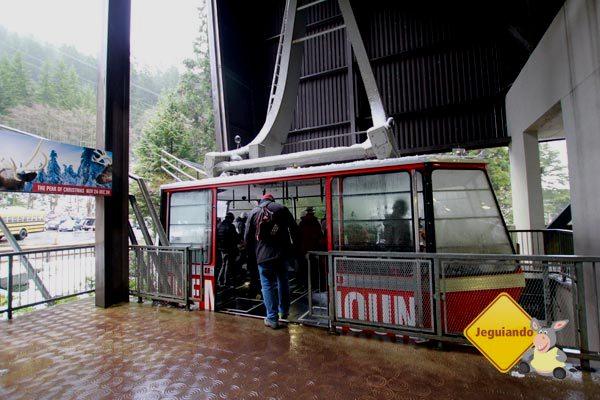 Teleférico que leva os visitantes ao Grouse Montain. Vancouver, British Columbia. Imagem: Erik Pzado