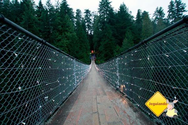 Capilano Suspension Bridge Park, a mais popular atração turística de Vancouver, British Columbia. Imagem: Erik Pzado