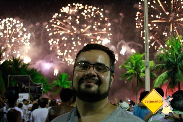 Erik no Réveillon em Copacabana, Rio de Janeiro. Imagem: Janaína Calaça