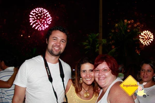 Mark, Clarissa Donda (do blog Dondeando por aí), e eu. Imagem: Erik Pzado