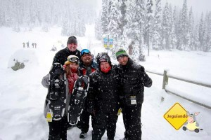 Pri, Zé, Erik, eu e Ari. Imagem: Jeguiando