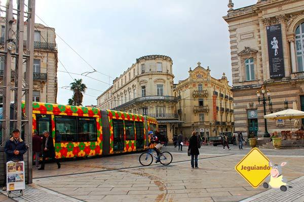 Place de la Comédie. Montpellier, França. Imagem: Janaína Calaça