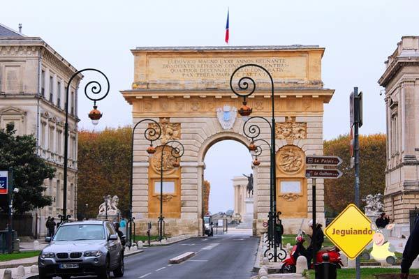 L'arc du Triomphe Montpellier. Montpellier, França. Imagem: Janaína Calaça