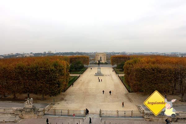 La promenade du Peyrou e Place Royale du Peyrou. Montpellier, França. Imagem: Janaína Calaça