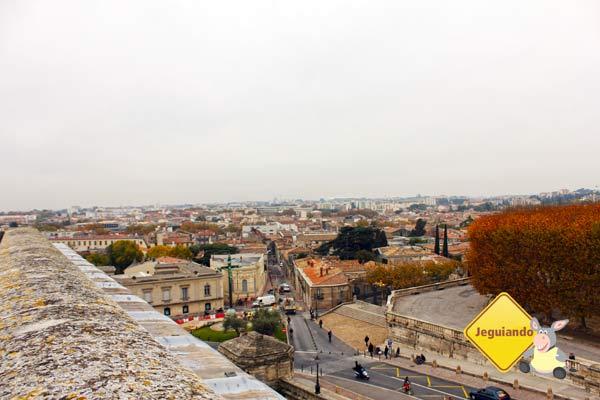 Vista a partir do L'arc du Triomphe Montpellier. Montpellier, França. Imagem: Janaína Calaça