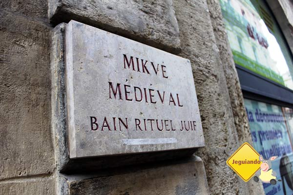 Mikvé Médiéval. Montpellier, França. Imagem: Janaína Calaça