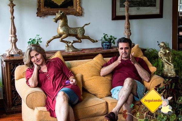 Vera e Délio Mattos, os anfitriões da Fazenda Vista Alegre. Imagem: Erik Pzado