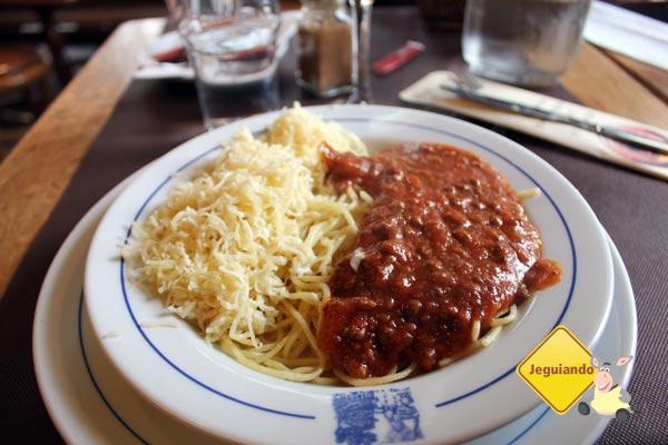 Espaguete a bolonhesa. Imagem: Janaína Calaça