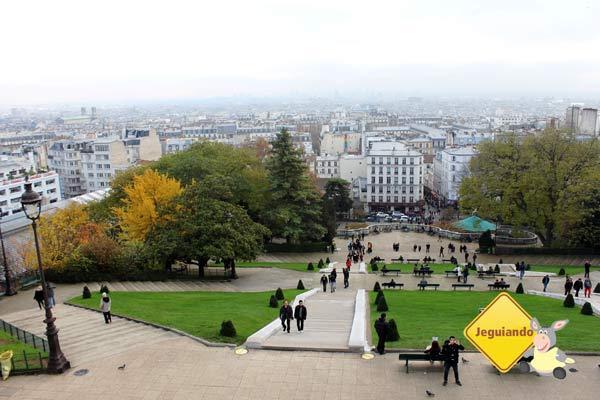 Vista de Paris a partir da Basilique du Sacré-Cœur. Paris, França. Imagem: Janaína Calaça