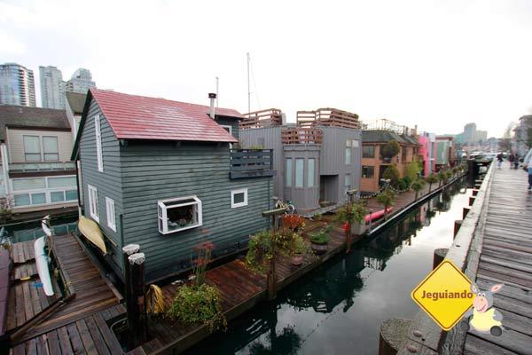 Casinhas flutuantes de Granville Island. Vancouver, BC. Imagem: Erik Pzado