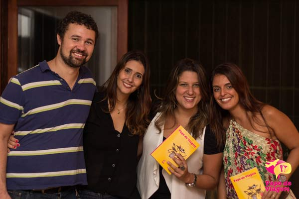 Mark, Cla, Pati e amiga da Cla. Imagem: Erik Pzado