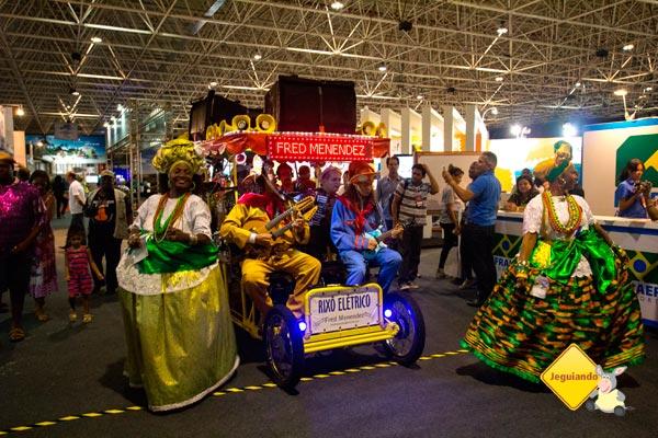 Apresentações musicais e culturais marcaram o II Salão Baiano de Turismo. Salvador, Bahia. Imagem: Erik Pzado