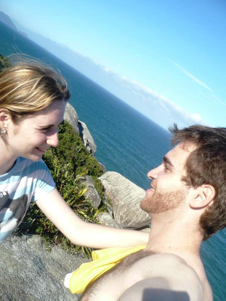 Laura e Marcelo escolheram também viajar para o sul do Brasil e aproveitar a companhia um do outro e as belezas da Praia da Barra, em Santa Catarina