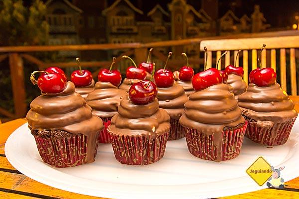 Deliciosos cupcakes são um dos mimos preparados para receber os hóspedes da pousada. Imagem: Erik Pzado