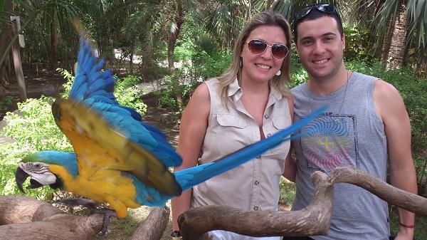 O casal Vanderlei e Rita curtindo dias ensolarados em Punta Cana, República Dominicana