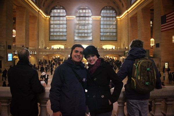 Sheila e André Vitor enviaram uma foto de uma das viagens, segundo Sheila, mais marcantes de sua vida, que foi a Nova York.