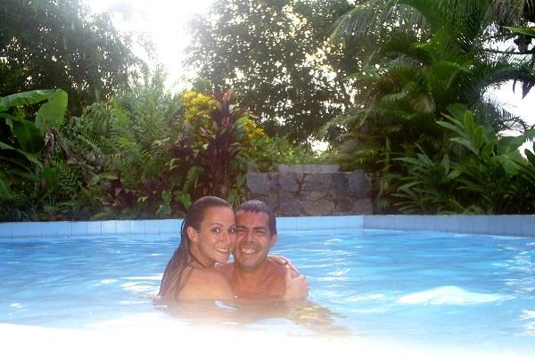 Rodrigo Cursino e Ieda foram curtir uns dias ensolarados na Ilha de Itaparica, na Bahia.