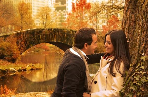 Keila e Micael fizeram uma linda foto no Central Park em Nova York