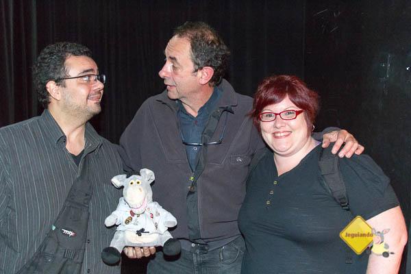 Trupe do Jeguiando e Amyr Klink, ele nos conhece. :-) Imagem: Douglas Sawaki (Blog Turismo Backpacker)