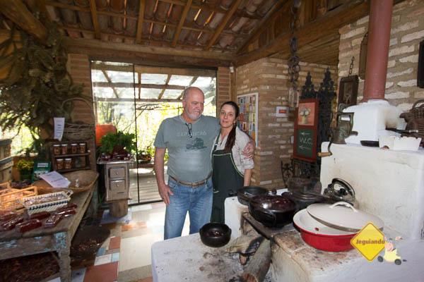 Rodolfo e Lilian, proprietários da Fazenda Aracatu. Cunha, SP. Imagem: Erik Pzado