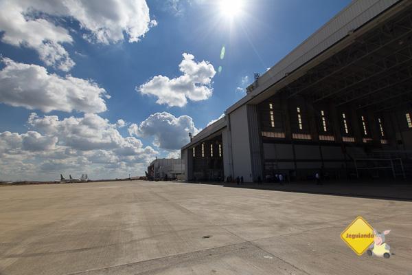 Hangares da Gol em Confins. Imagem: Erik Pzado