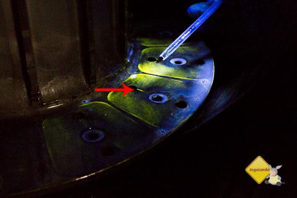 Magnaflux inspeção dos freios. Imagem: Erik Pzado