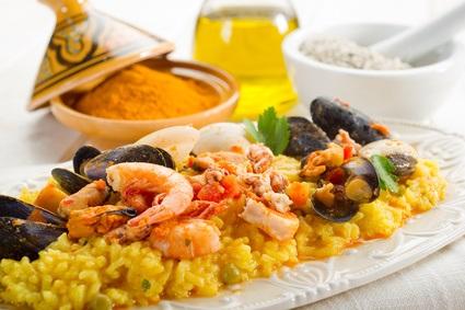 Fish paella. Kone Restaurant, Miami. Imagem: Divulgação
