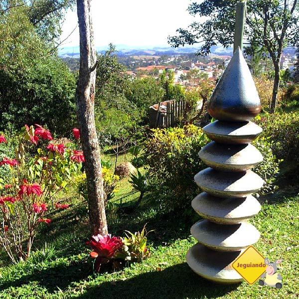 A cerâmica de Cunha está presente no ambiente do Quebra Cangalha de várias formas. Imagem: Janaína Calaça