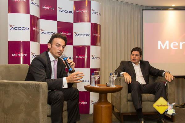 Patrick Mendes, diretor de operações da rede Mercure para a América Latina, fala sobre a nova unidade Mercure implantada em Salvador. Imagem: Janaína Calaça