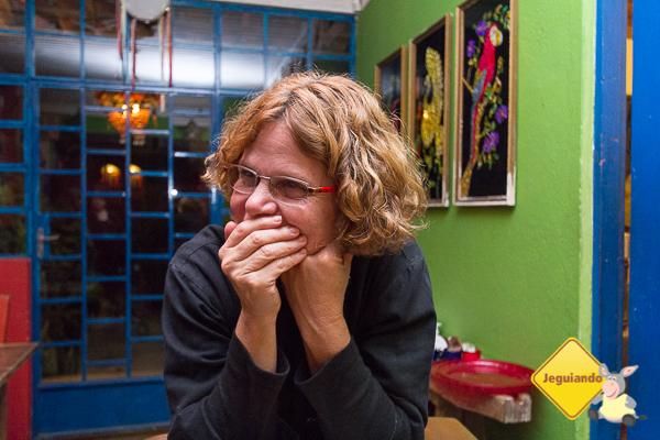 Rejane Cunha, a chef do Casa Azul - Bistrô Latino & Grill. Tiradentes, MG. Imagem: Erik Pzado