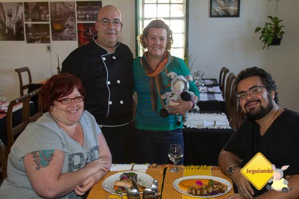 Jana, Chef João Carlos, Márcia Fonseca e Jegueton, e Erik. Imagem: Jeguiando