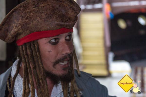 Marcelo Santos, encarnando o pirata Jack Sparrow. Imagem: Erik Araújo