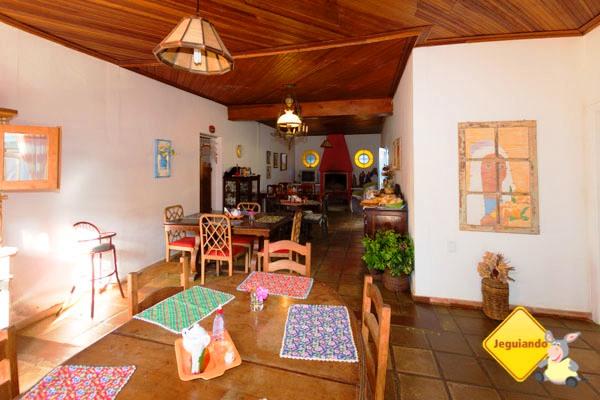Área do café da manhã da Pousada Sapucaia. Imagem: Erik Araújo