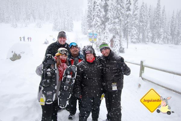 Todo mundo feliz porque não congelou! Sun Peaks, BC, Canadá. Imagem: Jeguiando