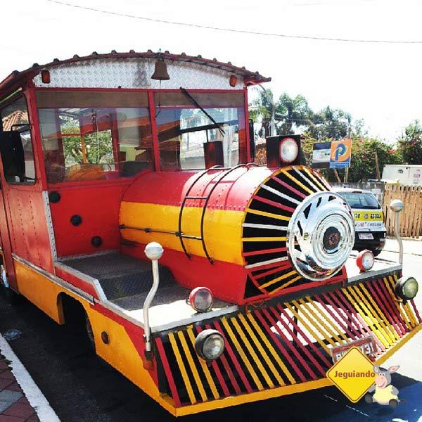 Trenzinho turístico de Guararema. Imagem: Janaína Calaça