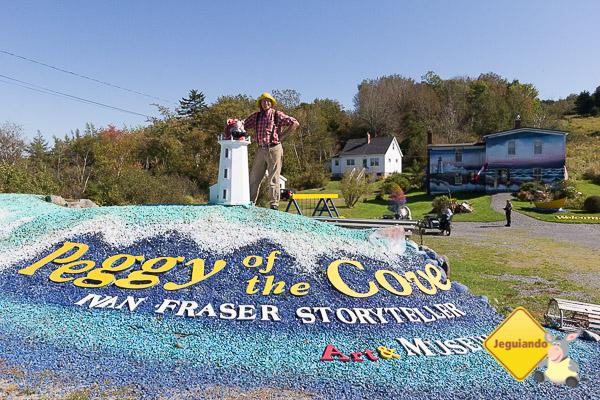 Galeria de Ivan Fraser, autor de obras literárias dedicadas à lenda de Peggy's Cove. Imagem: Erik Araújo