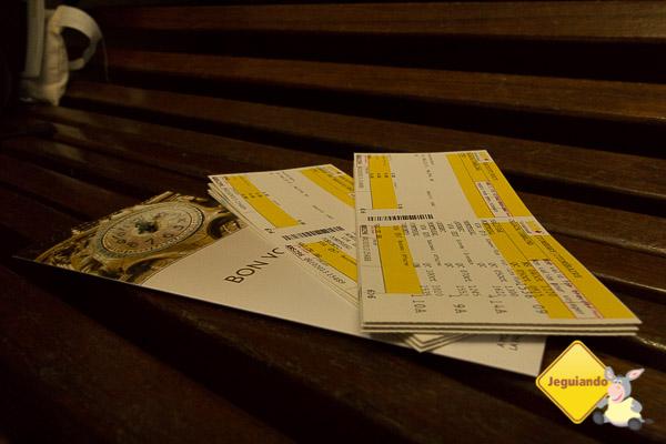 Nosso itinerário completo de trem em bilhetes. Imagem: Erik Araújo