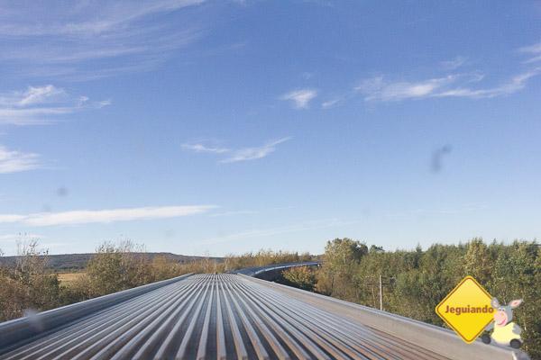 Visão do trem a partir do vgão panorâmico. Imagem: Erik Araújo