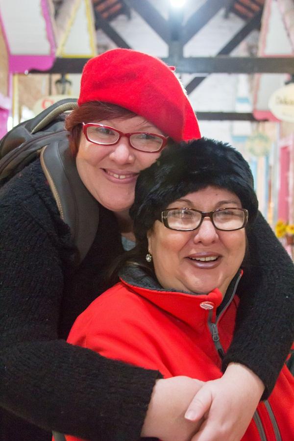 Eu e minha mãe, Emilia, viajando juntas. Imagem: Erik Araújo