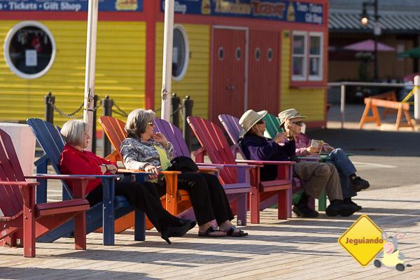 A terceira idade aproveita as tardes ensolaradas de Halifax. Imagem: Erik Araújo