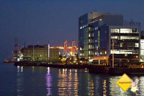 Waterfront de Halifax à noite. Imagem: Erik Araújo