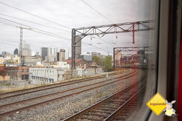 Pela janela do trem. Imagem: Erik Araújo