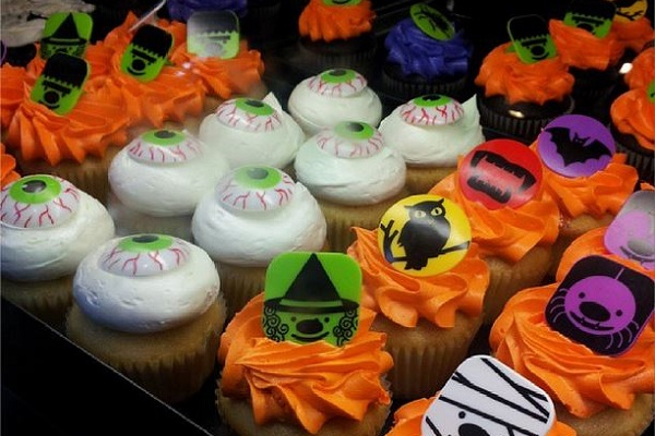 Cupcakes especiais de Halloween. Imagem: Janaína Calaça