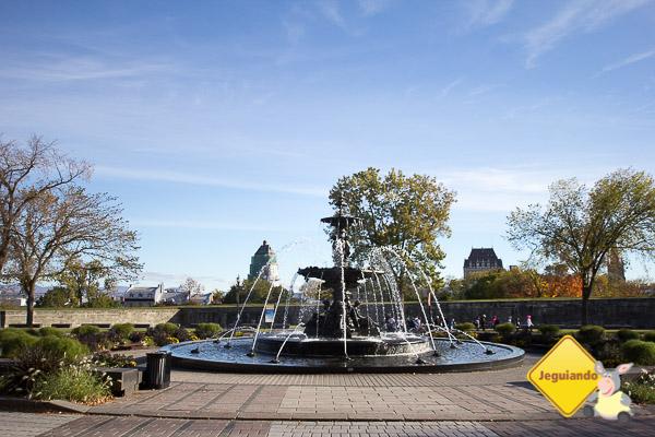 Fontaine de Tourny. Place de l'Assemblée-Nationale. Québec City, Québec. Imagem: Erik Araújo